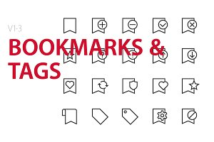60 Bookmarks & Tags UI icons
