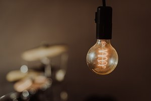 Light Bulb in Vintage Colors