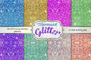 Sparkle seamless patterns