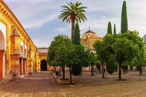 Courtyard of Great Mosque Mezquita, Cordoba, Spain
