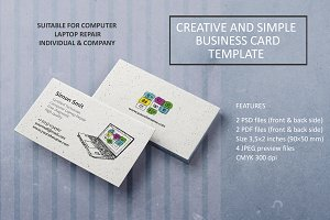 Creative & Simple Business Card Temp