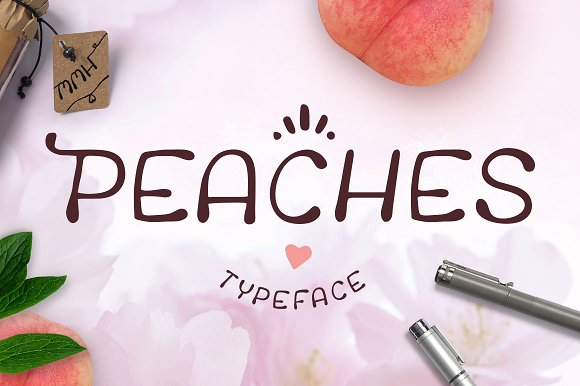 Peaches * Handwritten Typeface 35%