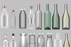 Empty Bottles Realistic Vectors