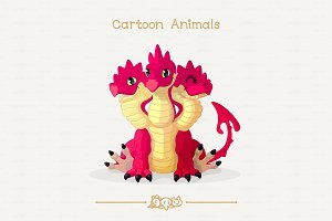 ♥ vector red dragon