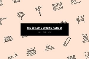 The Building Outline Icons 25