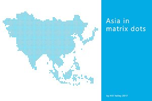 Map of Asia displayed in dots