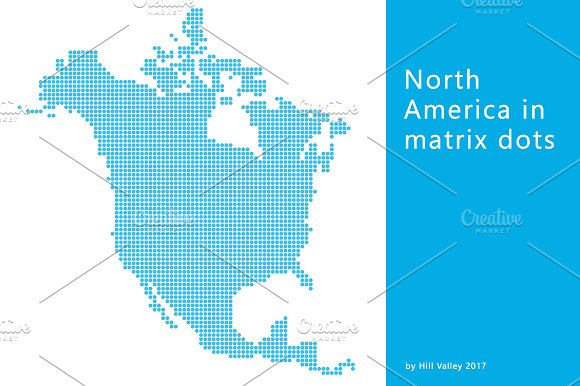 Map Of North America In Dots