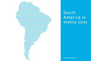 Map of South America in dots