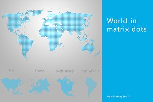 Map of the World in dots