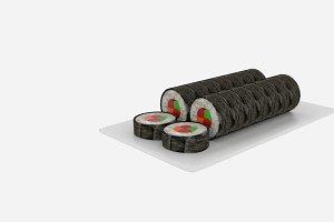 Sushi Roll Sliced