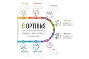 8 Options Infographics