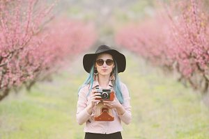 Girl with camera.