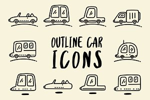 Outline Car Icons