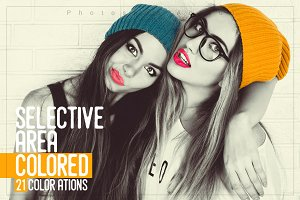 Selective Area Coloured 21 Actions
