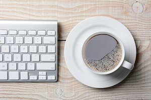 Keyboard and Coffee