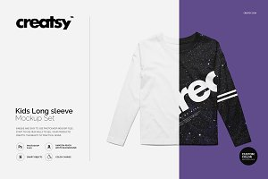 Kids Long Sleeve Mockup Set