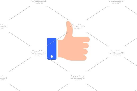 Like Thumb Icon Flat Style Vector