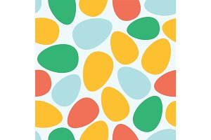 Abstract easter eggs seamless pattern