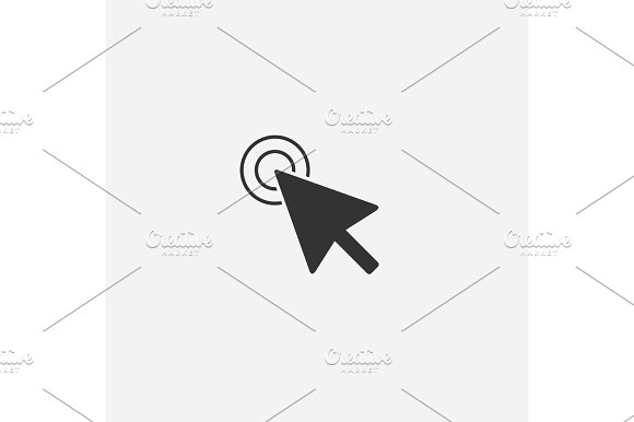Abstract Mouse Cursor Vector Icon