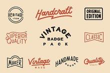 Vintage Badge Pack