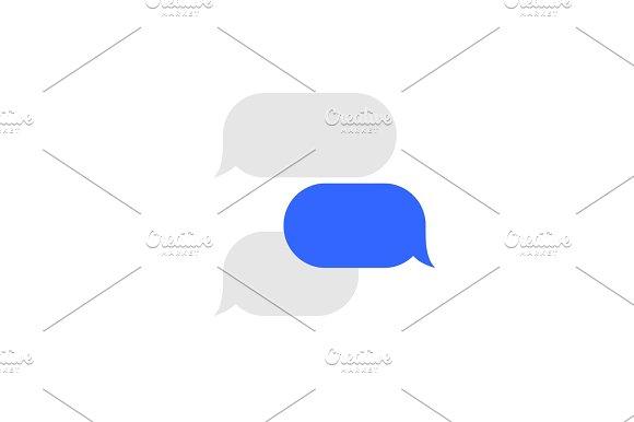 Message Service Flat Bubbles Icon Set