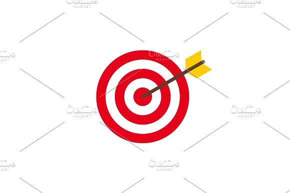 Abstract target flat design icon illustration
