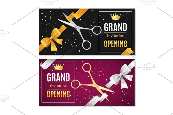 Grand Opening Banners Invitation