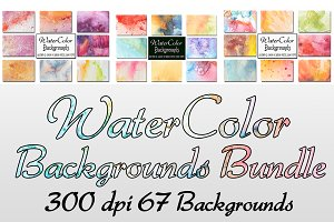 50%off Watercolor Backgrounds Bundle