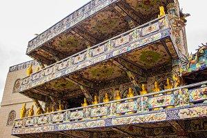Linh Phuoc porcelain glass Pagoda in Da Lat, Vietnam