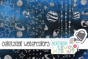 Space Watercolor Patterns