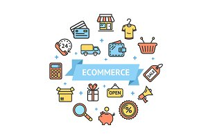 Ecommerce Concept. Vector
