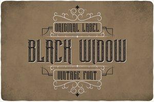 Black Widow Typeface