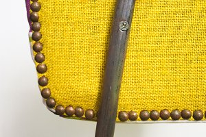 Vintage Chair  in Yellow Detail