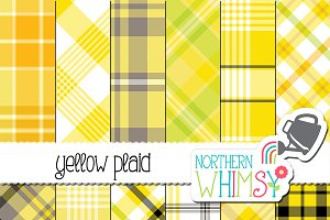 Yellow Plaid Patterns
