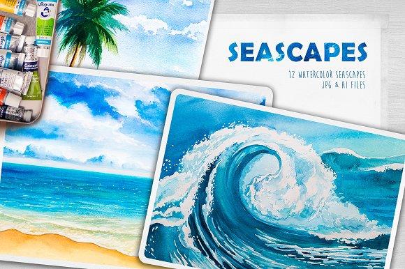 Seascapes Watercolor Illustrations