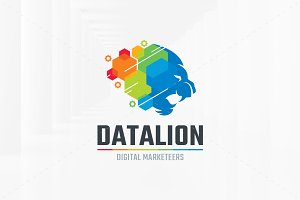Data Lion Logo Template