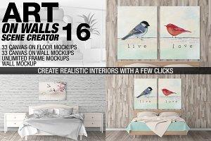 Canvas Mockups - Frames Mockups v 16