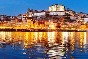 Porto at twilight, Portugal