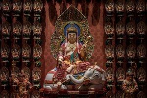 Buddha siting on Elephant