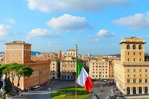 Venice square. Rome, Italy