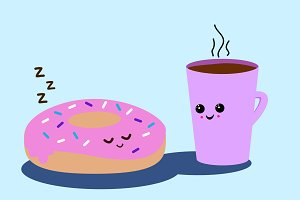 Sleepy Donut Illustration