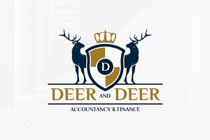 Royal Deers Logo Template
