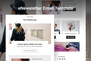 Responsive E-mail Template HTML Blog