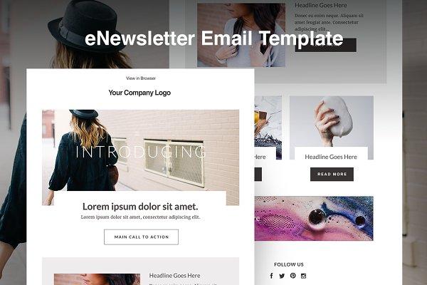 Responsive E-mail Template HTML Blo…