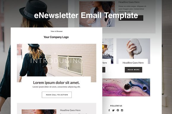 Blog ENewsletter Email Template