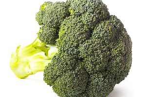 Green broccoli isolated