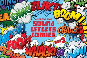 Comics sound effects set2