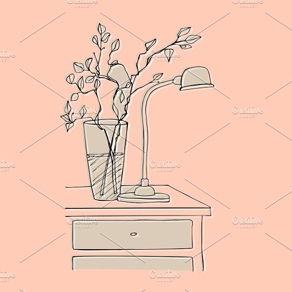 Vase And Lamp