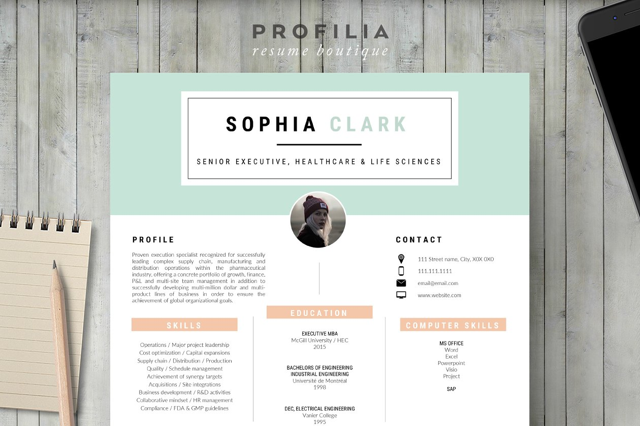 Resume bundle personal branding resume templates creative market pro word resume cover letter template yelopaper Images