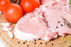 Raw pork loin